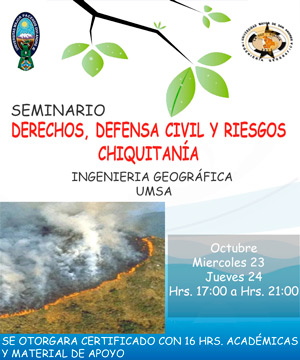 seminario DERECHOS, DEFENSA CIVIL Y RIESGOS